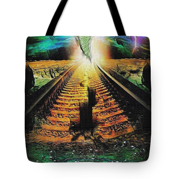 End Of The Cliff Tote Bag