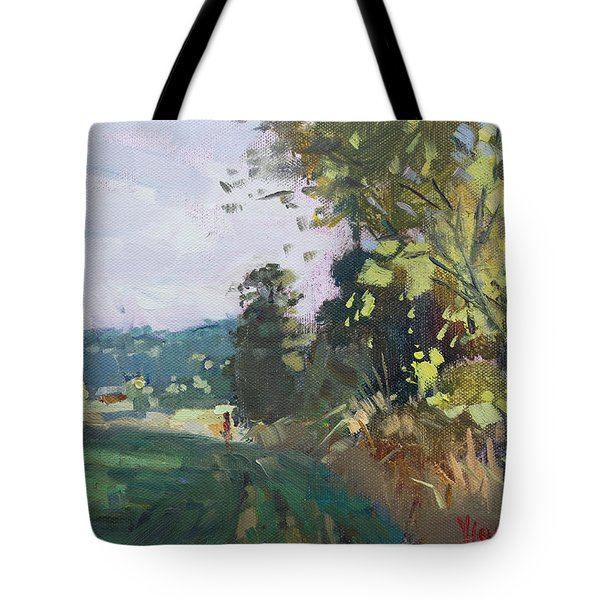 End Of The Day In The Farm  Tote Bag