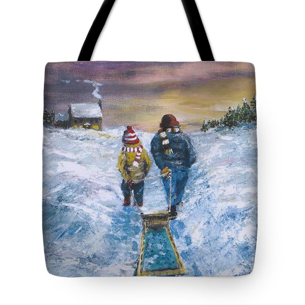 Tote Bag featuring the painting End Of The Day by Jack Skinner