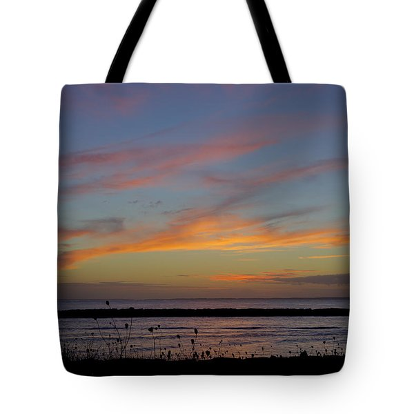 End Of The Day Lake Montauk Inlet Tote Bag