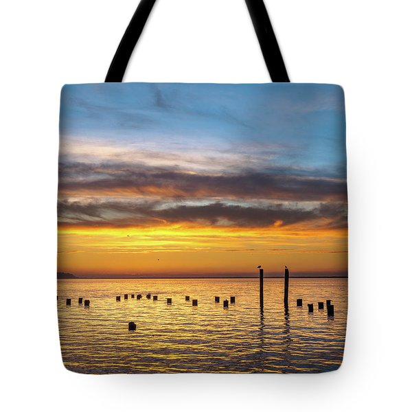End Of The Day On Humboldt Bay Tote Bag
