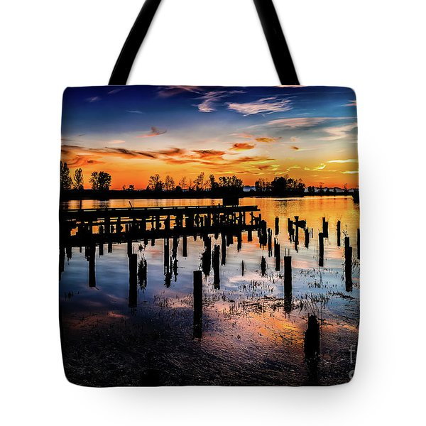 End Of The Fishing Day Tote Bag