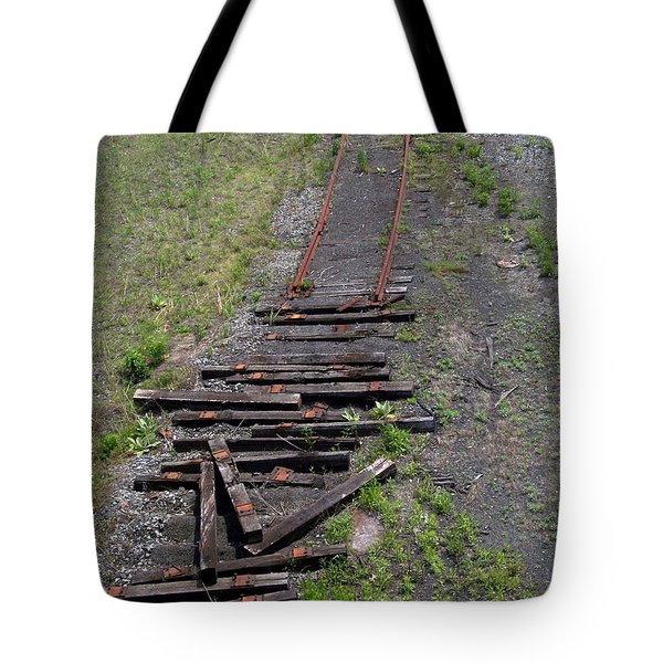Tote Bag featuring the photograph End Of The Line by Lola Connelly