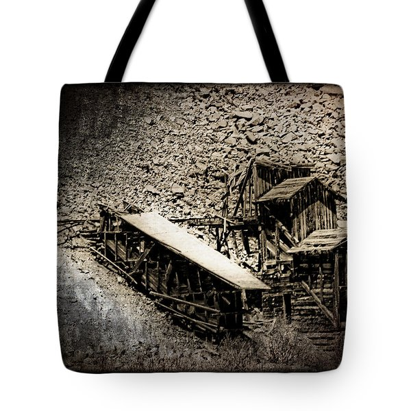 End Of The Line Mine Tote Bag