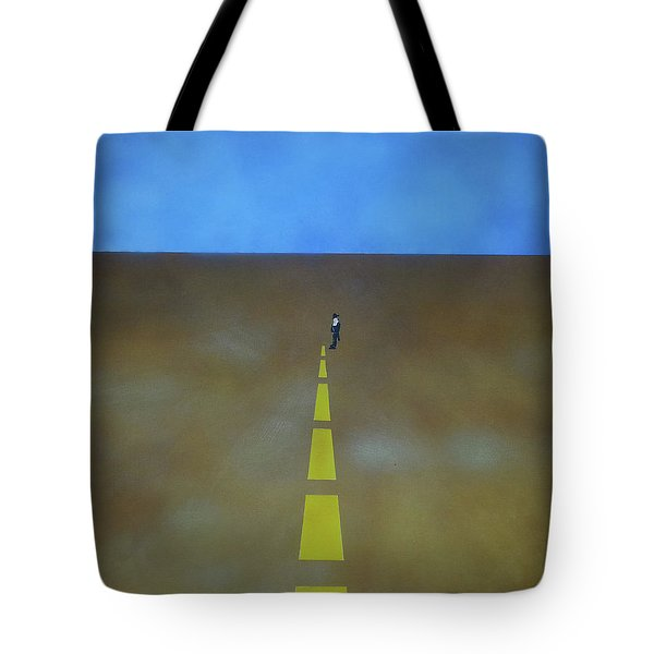 Tote Bag featuring the painting End Of The Line by Thomas Blood