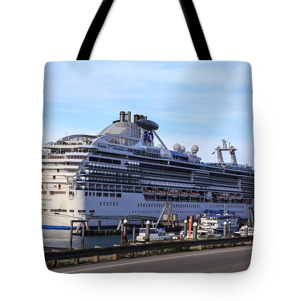 End Of The Rail Embark In Whittier Tote Bag by Allan Levin