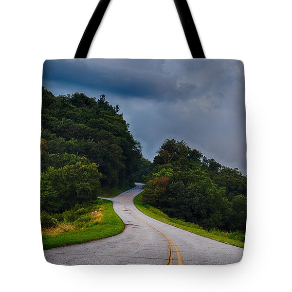 End Of The Road Tote Bag by Robert Loe