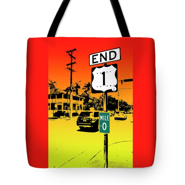 End Of The Road Tote Bag by Timothy Lowry