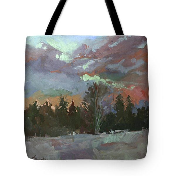 Winter's Last Flame Tote Bag