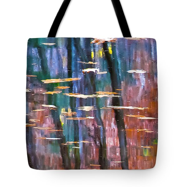 Tote Bag featuring the photograph Enders Reflection by Tom Cameron