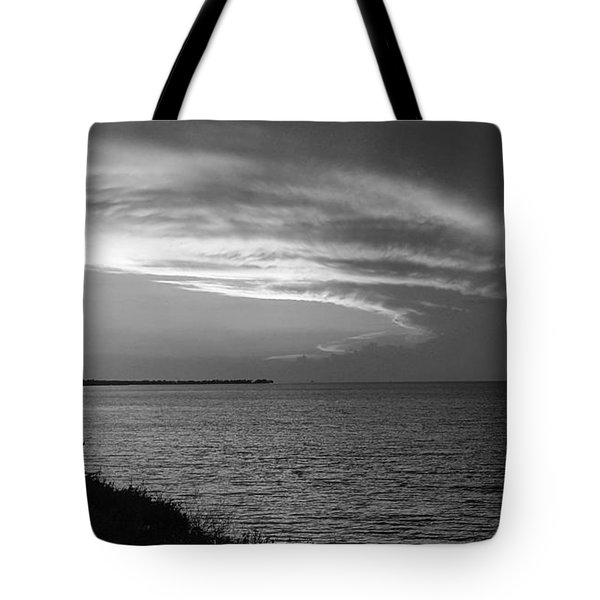 Ending The Day On Mobile Bay Tote Bag