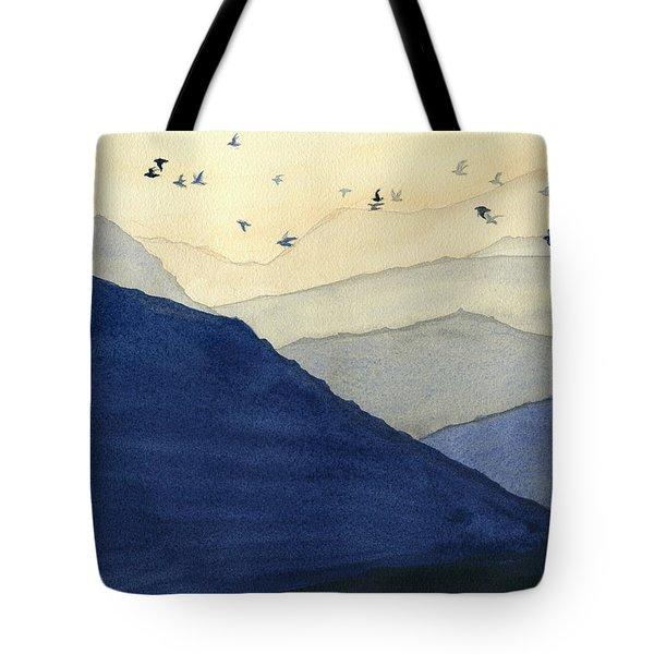Endless Mountains Left Panel Tote Bag