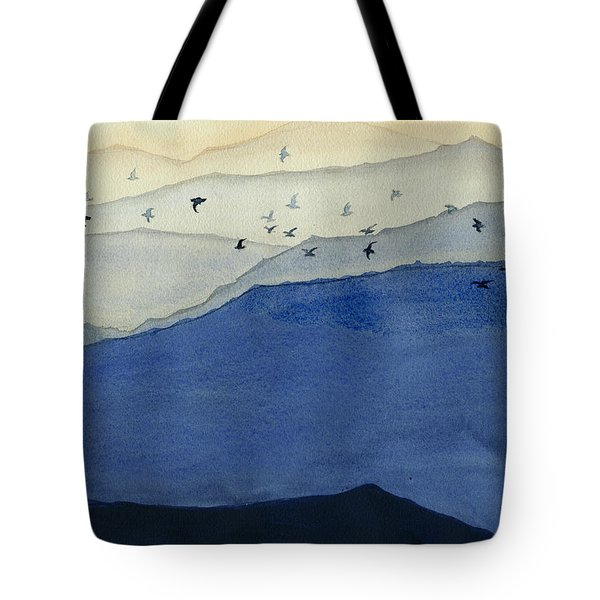 Endless Mountains Right Panel Tote Bag