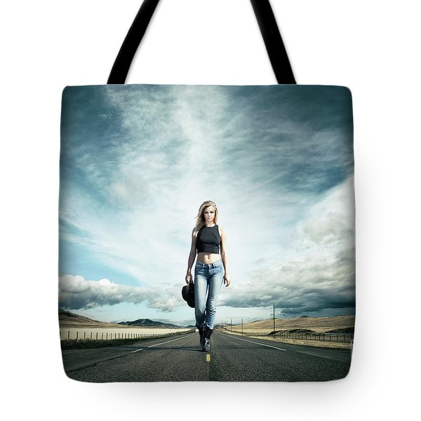 Endless Road To Happiness Tote Bag