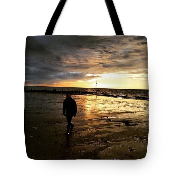 #endless Sky #sunset #norfolk #north Tote Bag