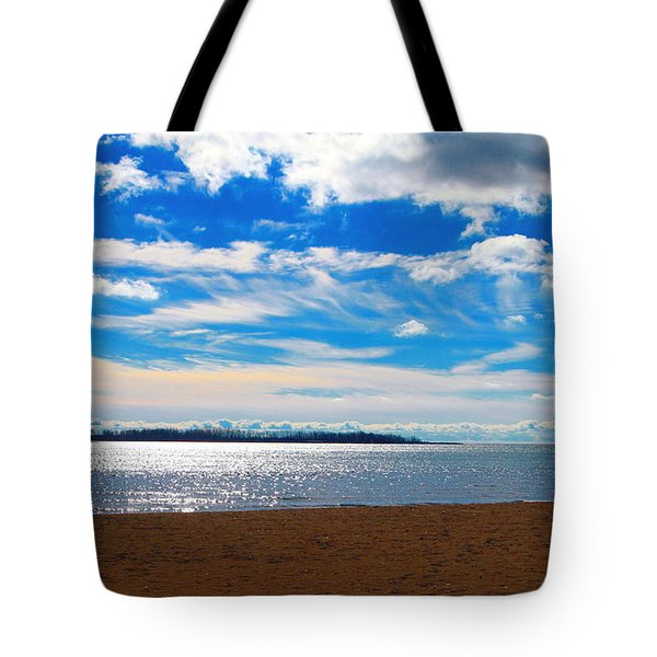 Tote Bag featuring the photograph Endless Sky by Valentino Visentini