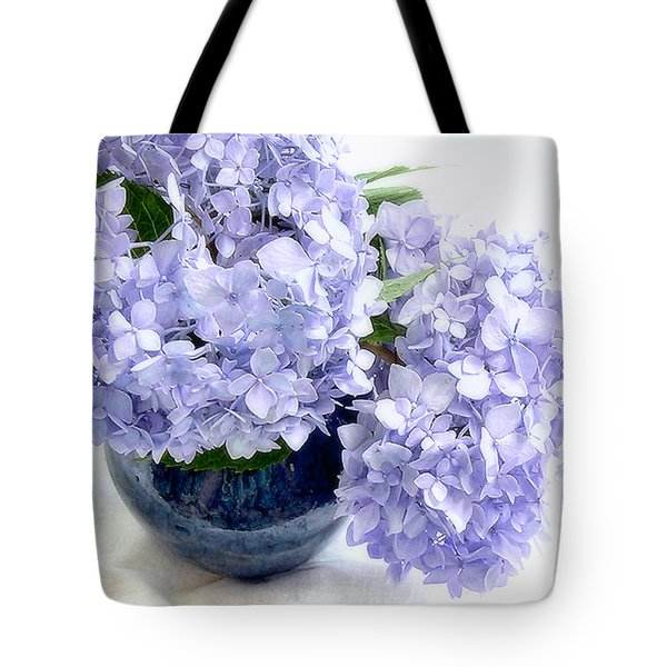 Endless Summer Hydrangea Still Life Tote Bag by Louise Kumpf