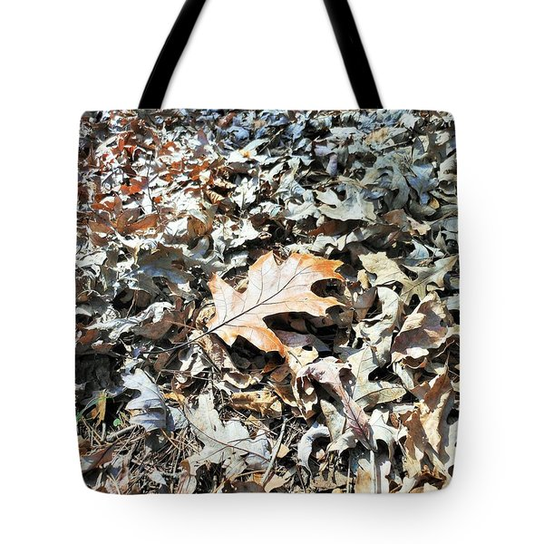 Tote Bag featuring the photograph Endurance Of A Leaf by Kay Gilley