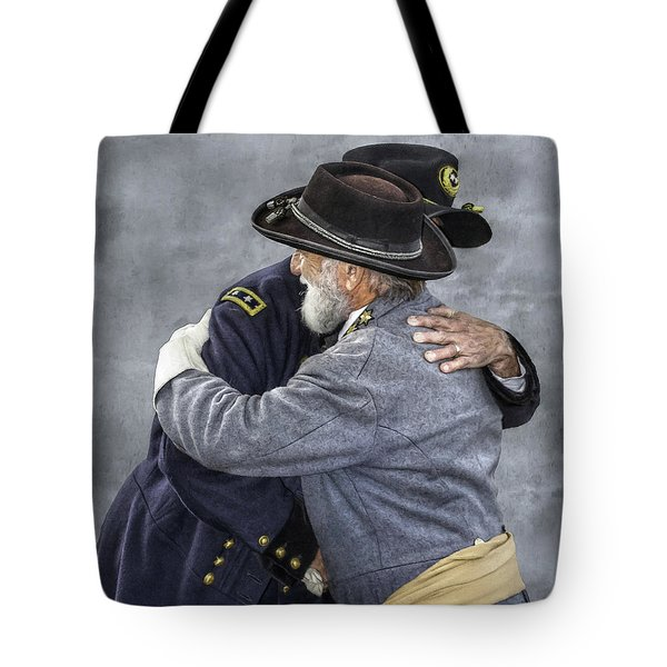 Enemies No Longer Civil War Grant And Lee Tote Bag