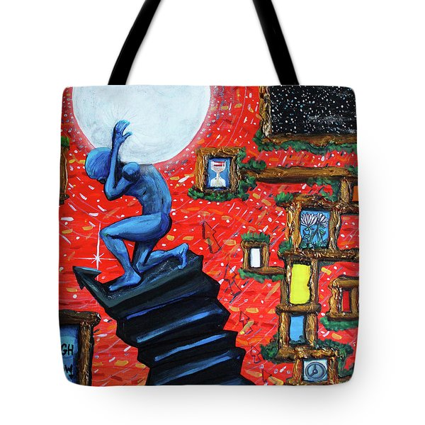 Energy Flow, The Active Space And The Effects Of The Rising Moon Tote Bag