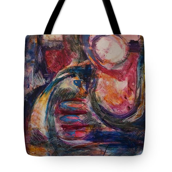 Tote Bag featuring the painting Engine by Jillian Goldberg