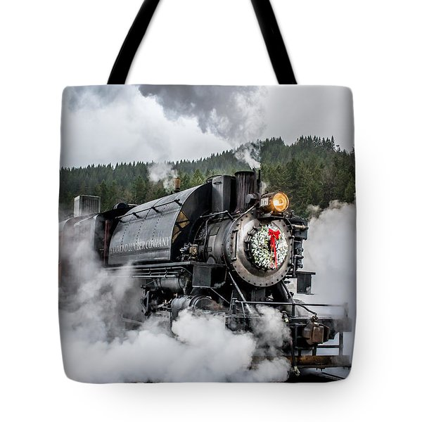 Engine No. 17 Elbe Christmas Train Tote Bag