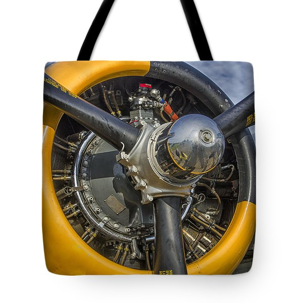 Tote Bag featuring the photograph Engine Of B-25 by JRP Photography