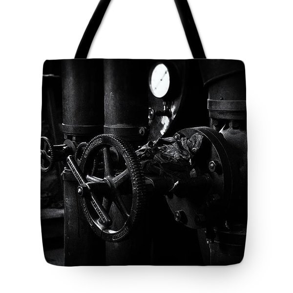 Tote Bag featuring the photograph Engine Room by Tim Nichols