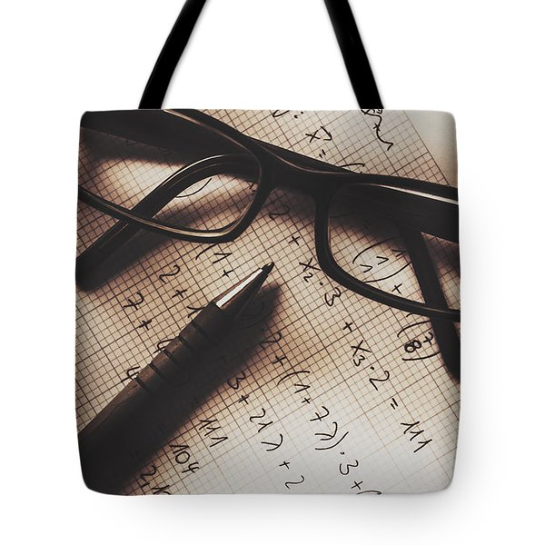 Engineer Students Technical Equations In Mechanics Tote Bag