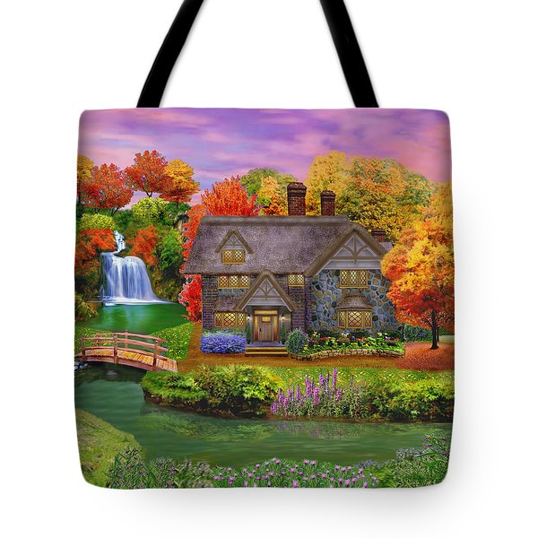 England Country Autumn Tote Bag