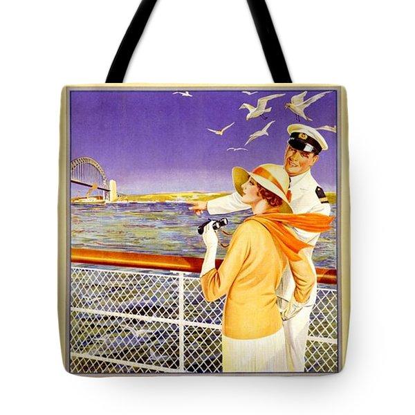 England To Australia Tote Bag by Nostalgic Prints