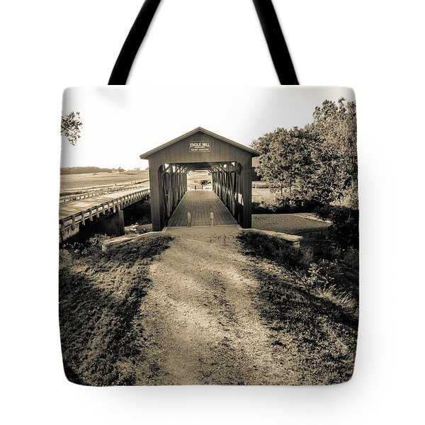 Engle Mill Covered Bridge Tote Bag