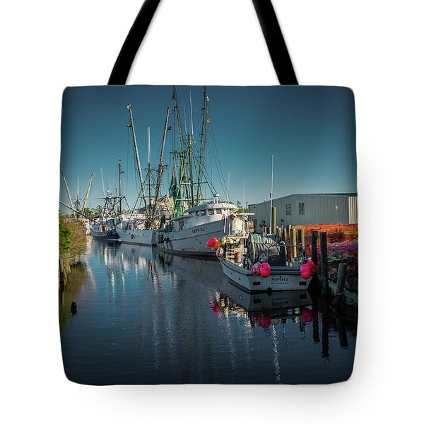 Englehardt,nc Fishing Town Tote Bag