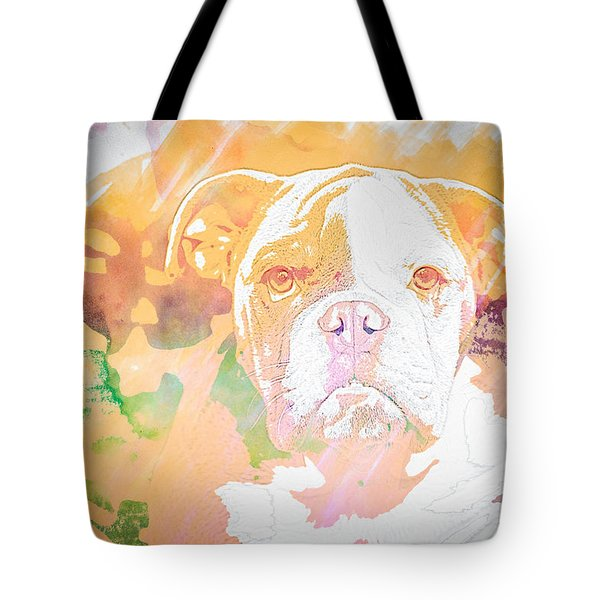 English Bulldog Wc Tote Bag