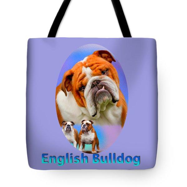 English Bulldog With Border Tote Bag
