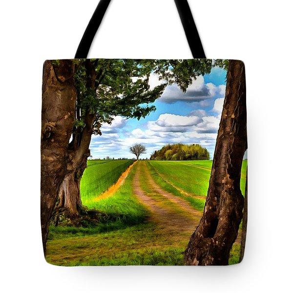 English Country Lane Tote Bag