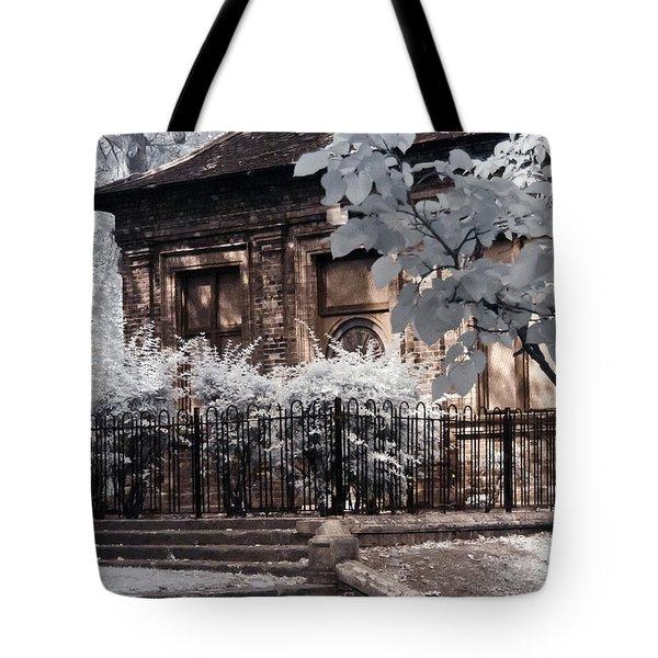 English Garden House Tote Bag by Helga Novelli