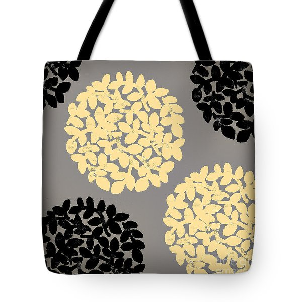 English Garden Retro Flower Pattern Tote Bag