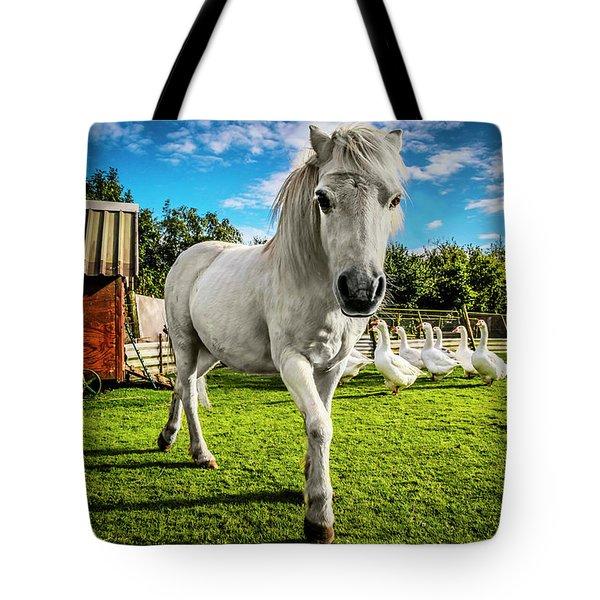 English Gypsy Horse Tote Bag