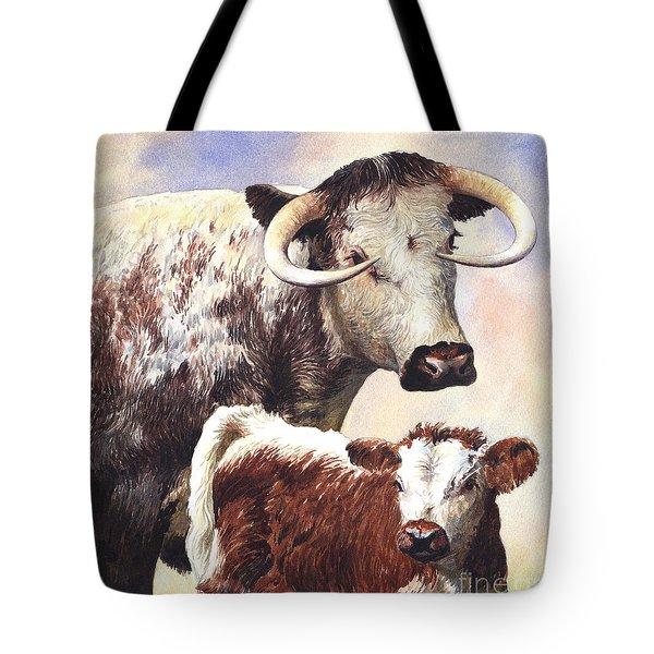 English Longhorn Tote Bag