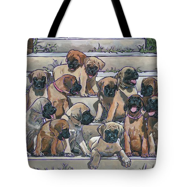 English Mastiff Puppies Tote Bag by Nadi Spencer