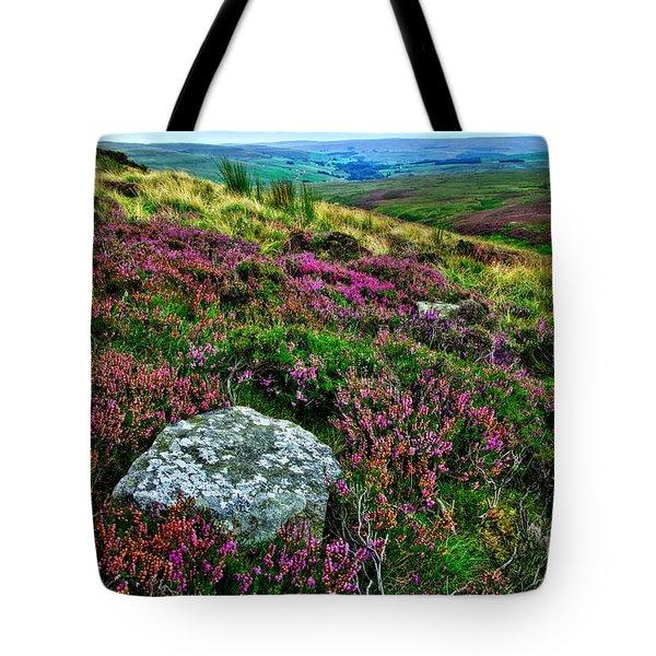 English Moorland Heather Tote Bag