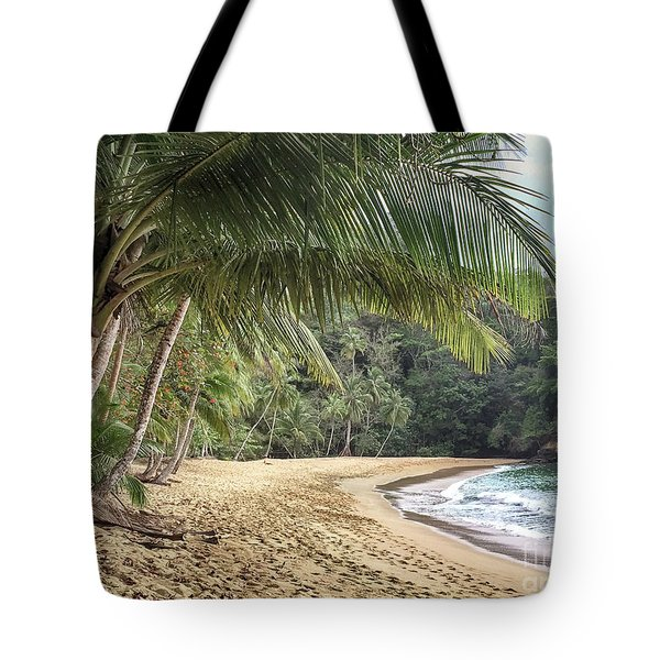 Tote Bag featuring the photograph Englishmans Bay Tobago by Rachel Lee Young