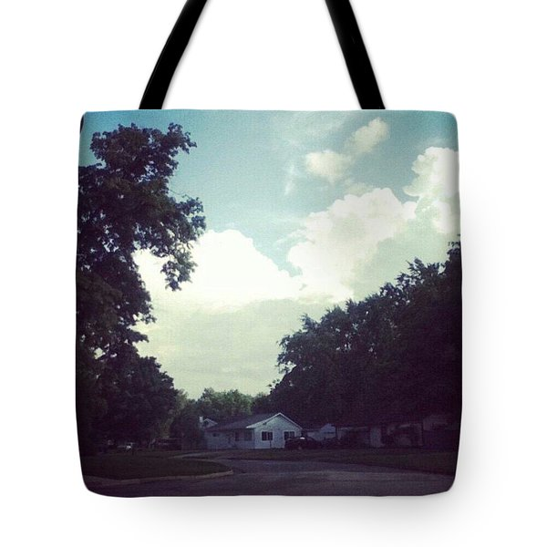 Engulfing Clouds Tote Bag