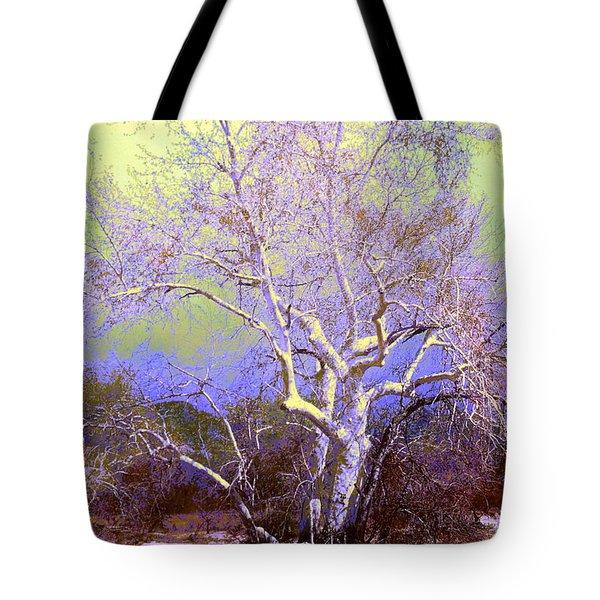 Enhanced Cottonwood Tree Tote Bag by M Diane Bonaparte