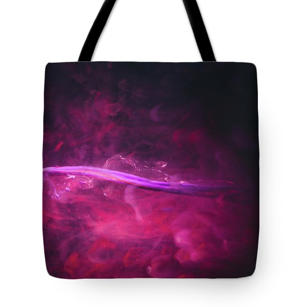 Enigma - Purple Abstract Photography Tote Bag by Modern Art Prints