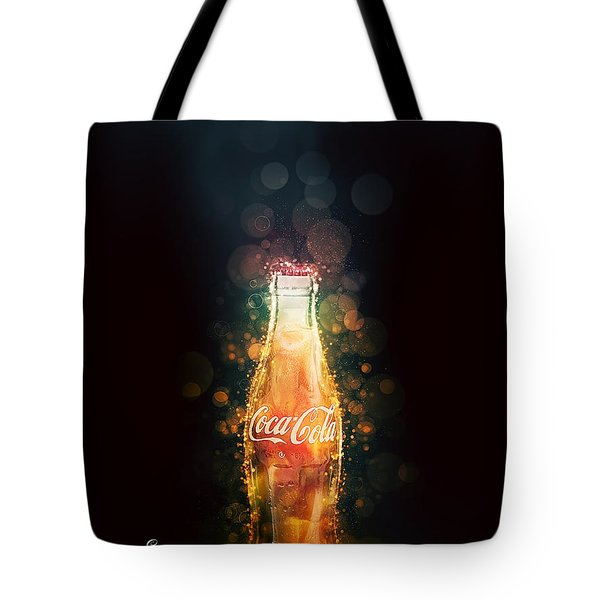 Tote Bag featuring the photograph Enjoy Coca-cola With Bubbles by James Sage