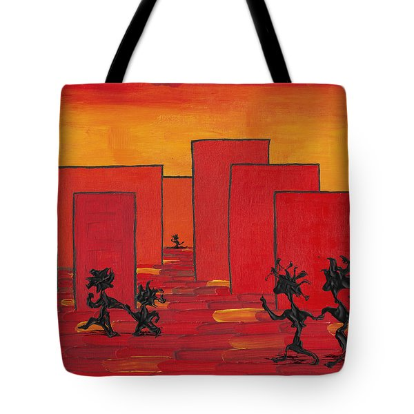 Enjoy Dancing In Red Town P1 Tote Bag