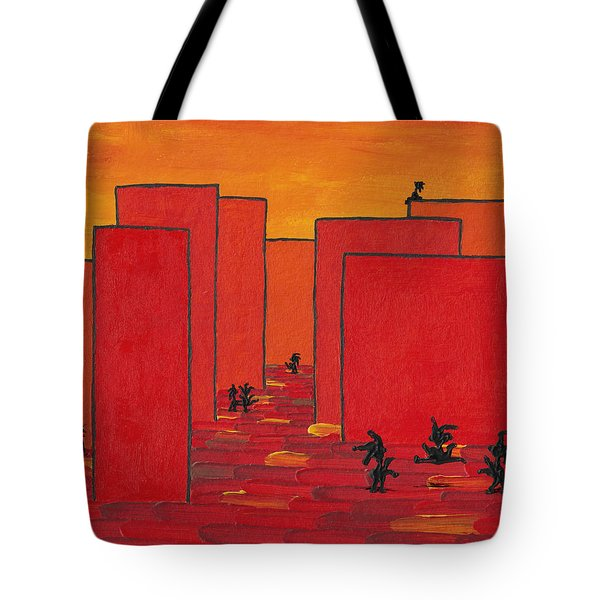 Enjoy Dancing In Red Town P2 Tote Bag