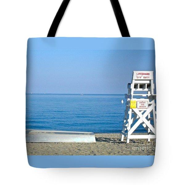 Enjoy The Beach Tote Bag by Beth Saffer
